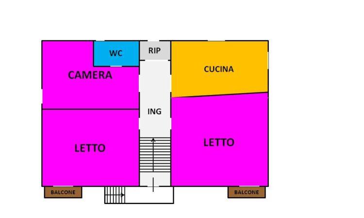 Porzione di casa con terreno e fienile a Lioni 2459 - Tutte le planimetrie