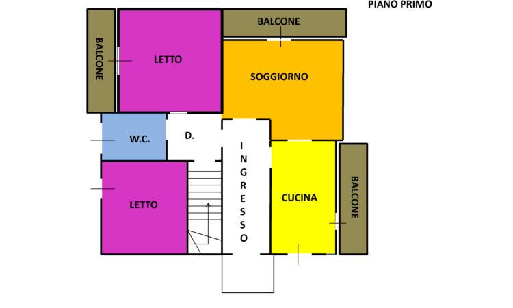 Casa indipendente a Sant'Angelo dei Lombardi 1627 - Tutte le planimetrie
