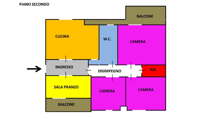 Appartamento con box auto a Sant'Angelo dei Lombardi 2487 - Tutte le planimetrie
