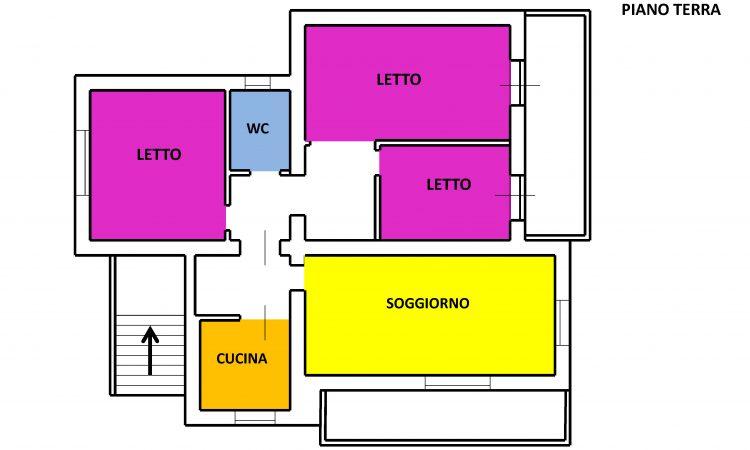 Casa indipendente con terreno a Nusco 2522 - Tutte le planimetrie