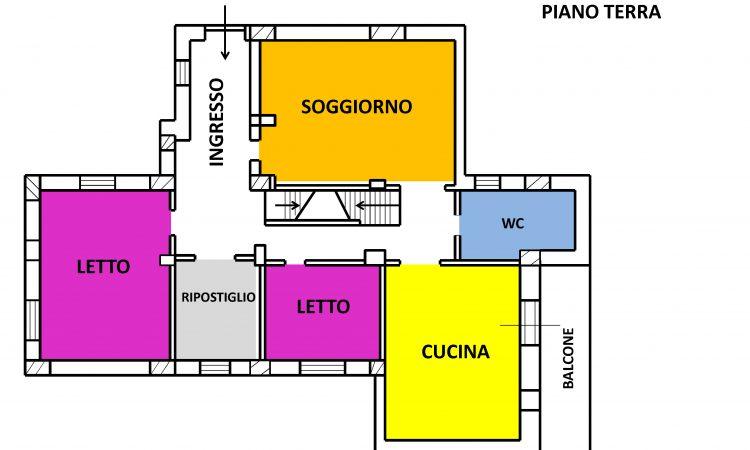 Casa indipendente con terreno a Lacedonia 2044 - Tutte le planimetrie